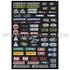 Planche Stickers - Sponsor Logos by FACTORY EFFEX