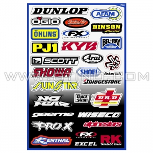 Planche Stickers - Sponsor A by FACTORY EFFEX