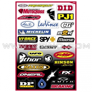 Planche Stickers - Sponsor B by FACTORY EFFEX