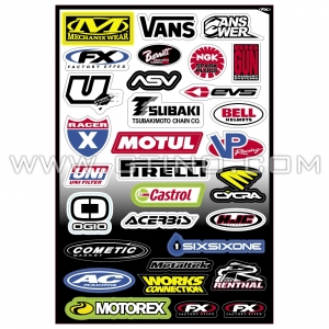 Planche Stickers - Sponsor C by FACTORY EFFEX