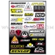 Planche Stickers - Sponsor D by FACTORY EFFEX