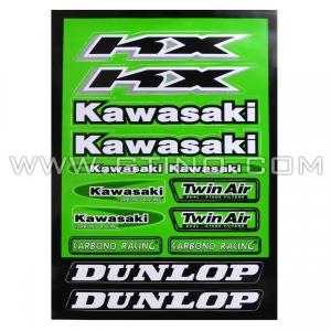 Planche Stickers A4 - KAWASAKI