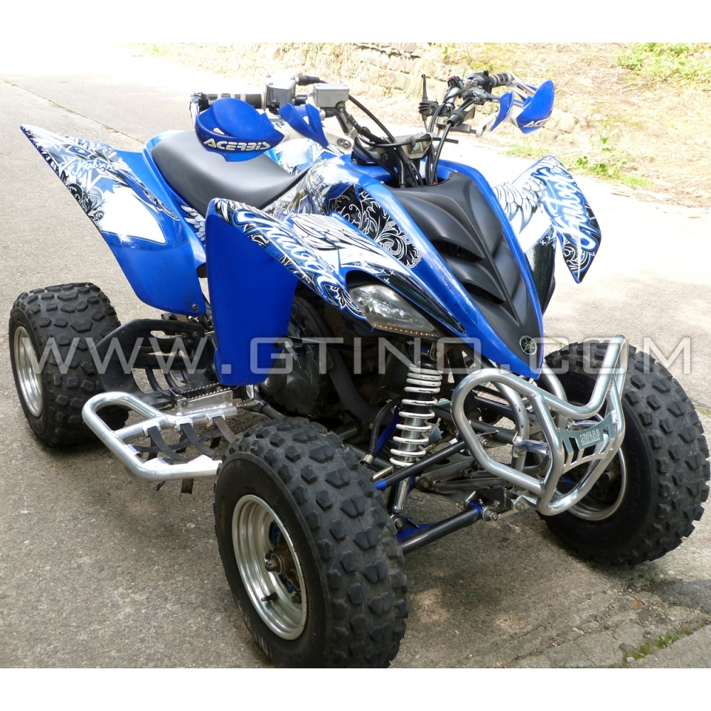 kit d co quad demon yamaha 350 raptor bleu kutvek kit
