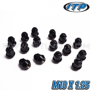 """Pack de 16 écrous """"BLACK"""" fermé / conique - ITP"""