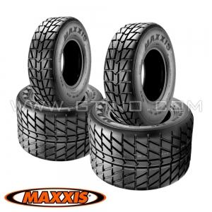 "Pack 4 pneus route : 10"" + 9"" MAXXIS"
