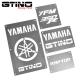 Pack Warning Labels Inox - YFM 350