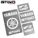 Pack Warning Labels Inox - YFZ 450