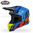 "Casque Cross ""TWIST"" Great Blue Matt - AIROH"