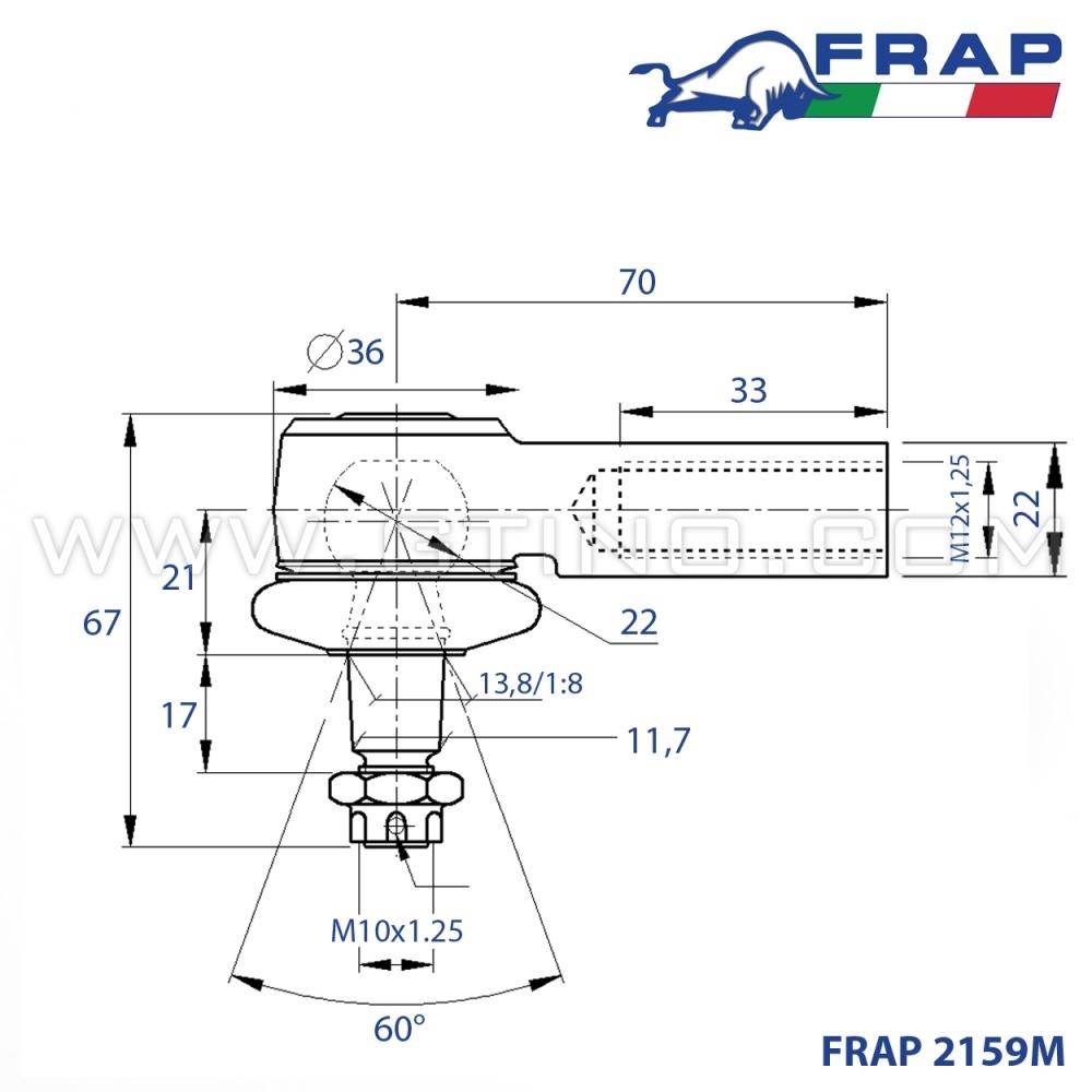 Frap 2972/Rotule Axiale