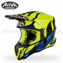 "Casque Cross ""TWIST"" Great Jellow Gloss - AIROH"