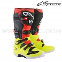 "Bottes TECH 7 ""Yellow Fluo Red Gray Black"" - ALPINESTAR"