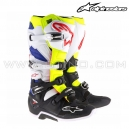 "Bottes TECH 7 ""White Yellow Fluo Blue"" - ALPINESTAR"