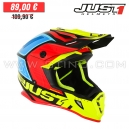 "Casque Cross J38 ""Blade"" Red/Yellow/Blue - JUST1"