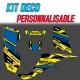 "Kit déco ""RC-BE BLUE/YELLOW"" - LTZ /  KFX 400"