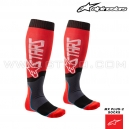 "Chaussettes MX PLUS-2 ""Red White"" - ALPINESTARS"
