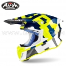 "Casque Cross ""TWIST 2.0"" Frame Blue/Fluo - AIROH"