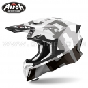 "Casque Cross ""TWIST 2.0"" Frame Grey - AIROH"