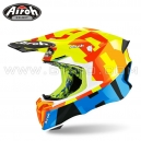 "Casque Cross ""TWIST 2.0"" Frame Yellow - AIROH"