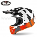 "Casque Cross ""TWIST 2.0"" Frame Orange - AIROH"