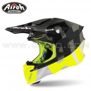 "Casque Cross ""TWIST 2.0"" Frame Anthracite/Fluo - AIROH"