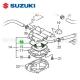 Joint O'Ring filtre à essence - SUZUKI LTR 450