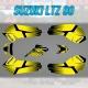 """Kit déco """"FACTORY JAUNE"""" - Suzuki LTZ 90"""