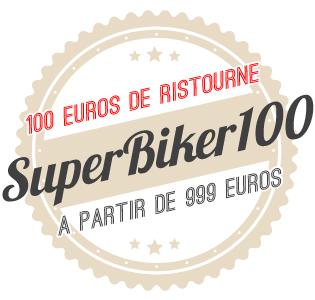 100€ de ristourne avec le code SUPERBIKER100