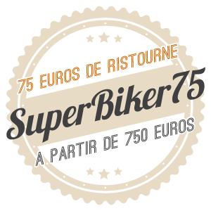 75€ de ristourne avec le code SUPERBIKER75