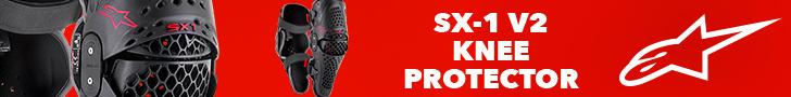 Nouveauté : Genouillères SX-1 V2 Knee Protector - ALPINESTARS